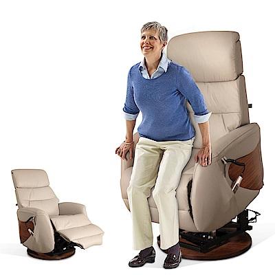 【SunPin】Marquez馬奎斯貴族電動起身椅(雙馬達&旋轉座)-暖灰