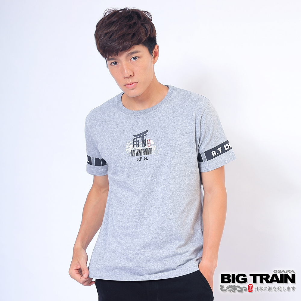 BIG TRAIN 黑魂嘻哈潮T-男-麻灰