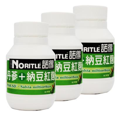 諾得丹蔘+納豆紅麴膠囊 60粒x3瓶