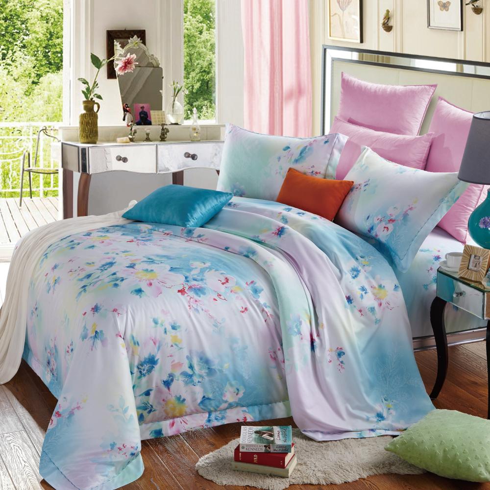 花之曲 嘉儷絲雙人四件式鋪棉兩用被床包組
