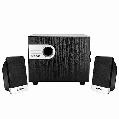KINYO 2.1聲道木質喇叭KY-1701加贈百元耳機