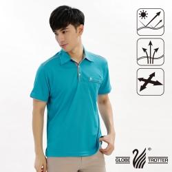 【遊遍天下】男款抗UV吸濕排汗機能POLO衫GS10013孔雀綠