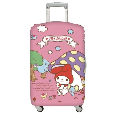 LOQI 行李箱套-美樂蒂 蘑菇 (L號 適用28吋以上行李箱保護套)