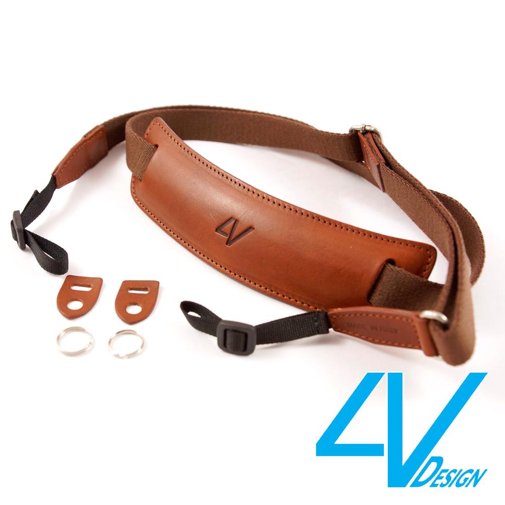 4V LUSSO-LARGE系列相機背帶LP01B-VV2323-棕/棕色(L)