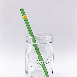 美國strawesome手工玻璃吸管/標準直式-亮綠(豔陽黃)