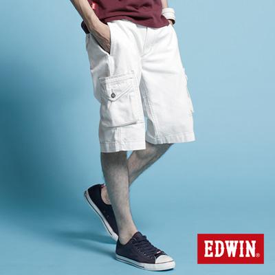 EDWIN-純粹夏日-KHAKI貼袋馬褲-男款-白色