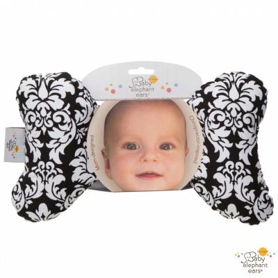 Baby Elephant Ears 黑色圖騰款推車汽座護頸蝴蝶枕