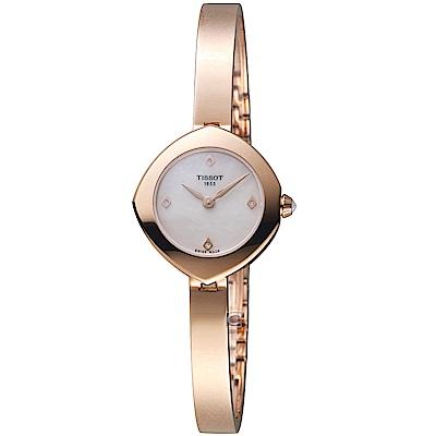 TISSOT天梭Femini-T頂級典雅鑲鑽腕錶(T1131093311600)-22mm