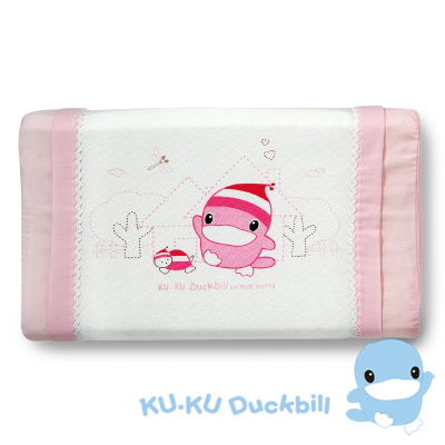 KU.KU酷咕鴨-涼感兒童枕-粉