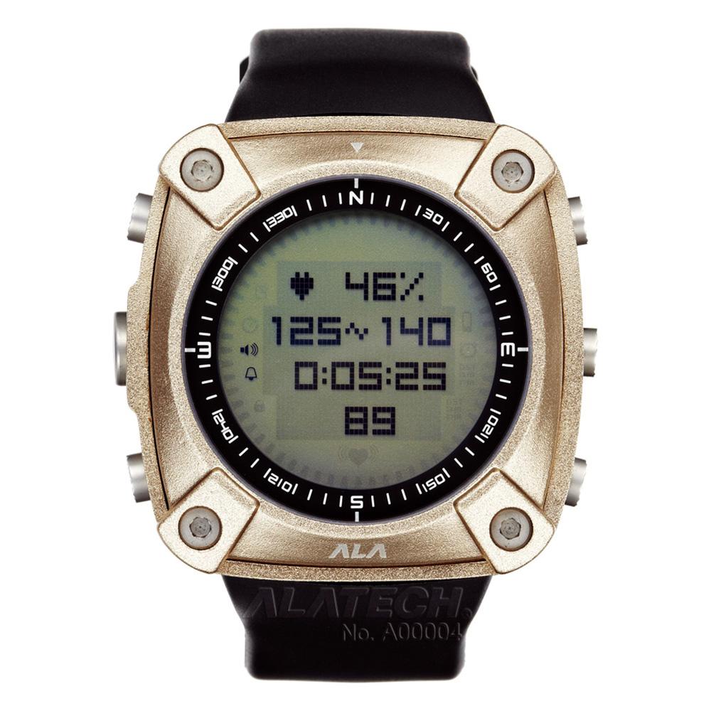 ALATECH 新版 OP100 專業 心率錶 登山錶 -古銅色