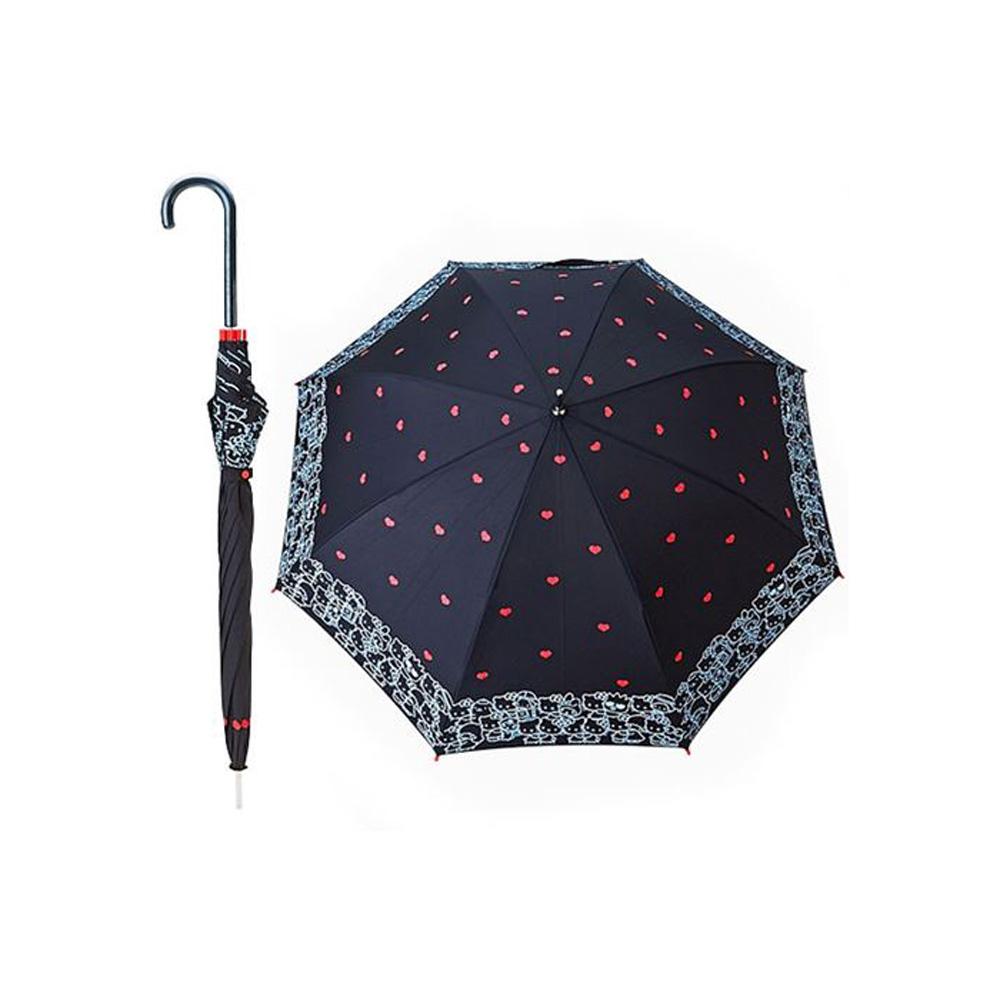 Sanrio HELLO KITTY 40周年擁抱好朋友系列直式雨傘