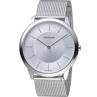 Calvin Klein Minimal 極簡米蘭帶腕錶(K3M2T126)白/43mm