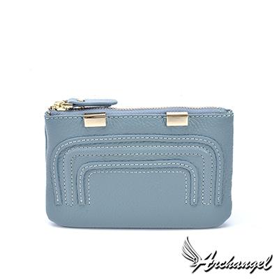 阿卡天使真皮簡約優雅實用卡包零錢包-多色-W831