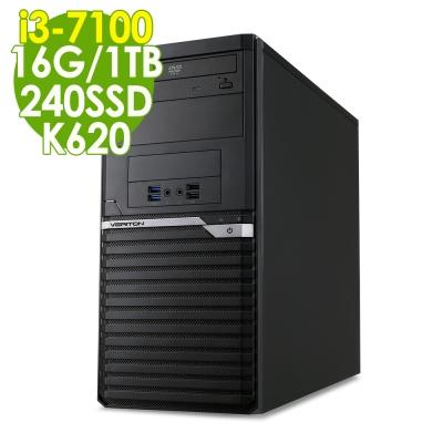 Acer VM4650 i3-7100/16G/1TB+240SSD/K620/W10P