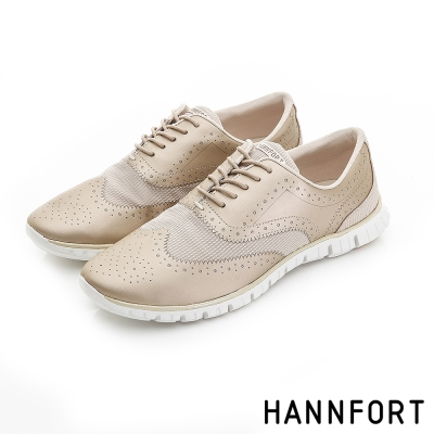 HANNFORT ZERO GRAVITY翼紋雕花牛津氣墊鞋-女-星芒金