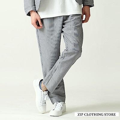 泡泡紗休閒褲(3色) ZIP日本男裝