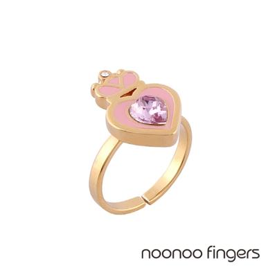 Noonoo Fingers Antoinette 安東妮粉紫愛心金邊戒指