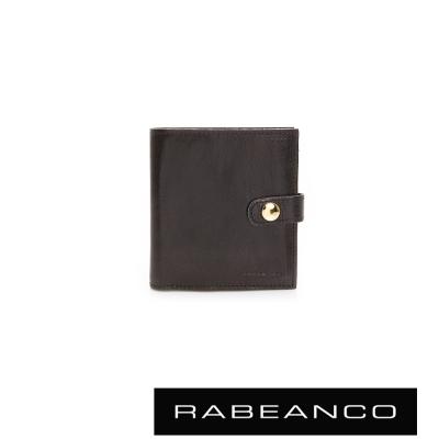 RABEANCO-率性風格牛皮卡片層短夾-黑