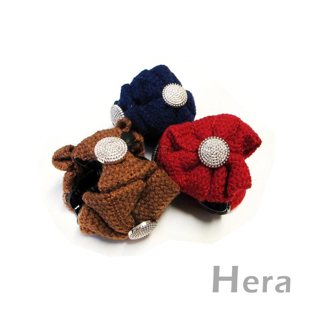 【Hera】編織浪漫 蝴蝶結造型髮夾/抓夾(三色-女王紅)