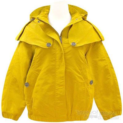 BURBERRY 英倫芥茉黃色短版風衣外套 US 6【S號】