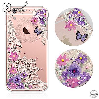apbs iPhone6s/6 Plus 5.5吋 施華洛世奇彩鑽手機殼-蕾絲花