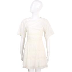 PHILOSOPHY 米白色拼接蕾絲設計短袖洋裝