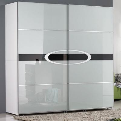 居家生活 芙洛麗7X7尺白色亮烤推門衣櫃