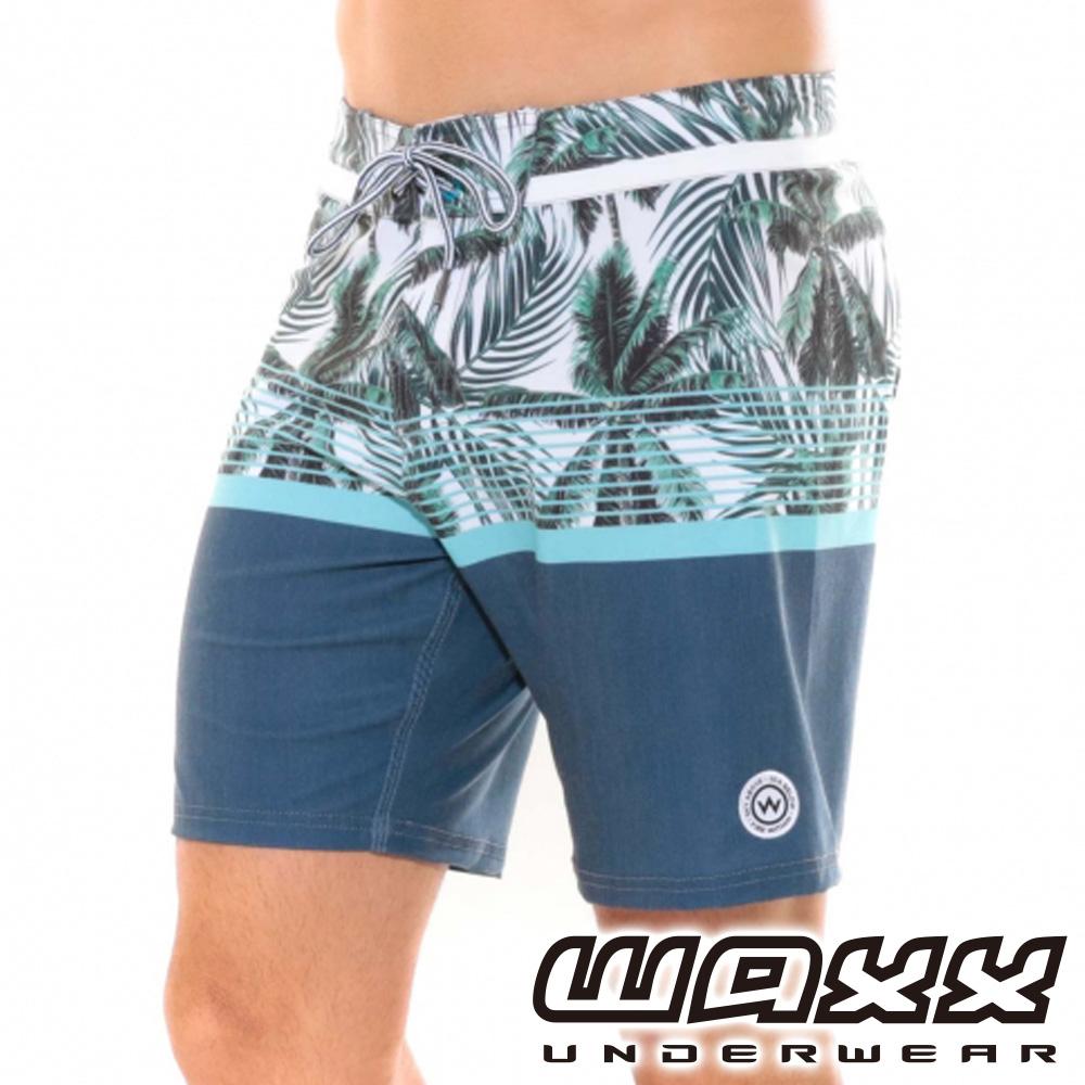 WAXX熱浪系列-龍目島印花拼接快乾型男衝浪褲(18英吋)