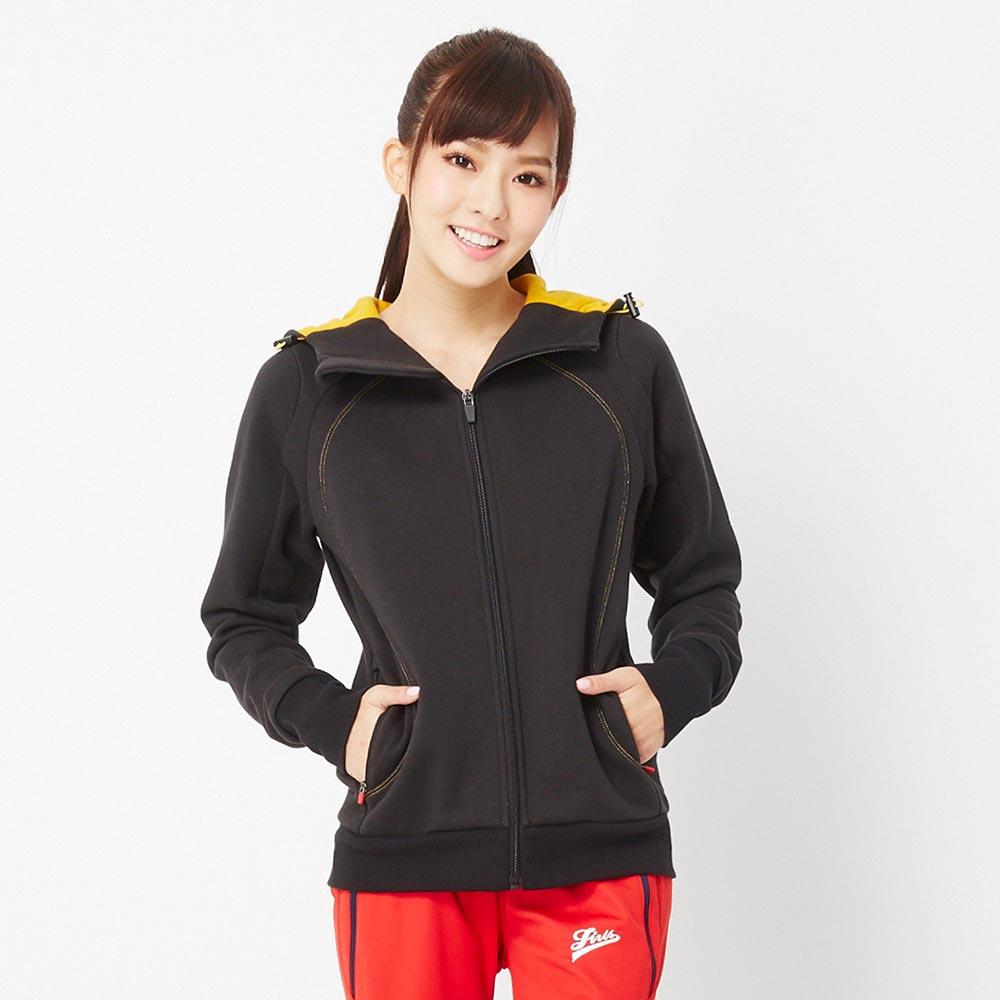 【TOP GIRL】棉質連帽立體剪裁修身外套-黑色