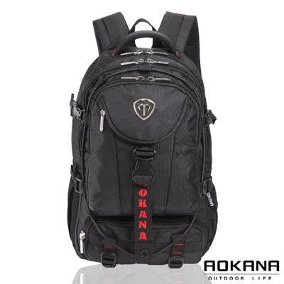 AOKANA奧卡納 台灣釦具 防潑水護脊紓壓電腦後背包(紅標)68-067