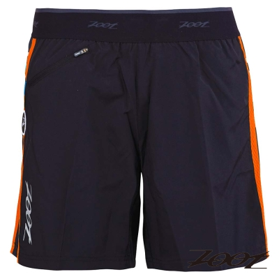 ZOOT頂級冰涼感二合一7吋輕肌能跑褲(男)(黑酷橘)Z1504018-16