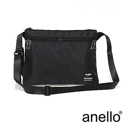 日本正版anello 輕量休閒斜背包 AT-S0211 黑色 BK