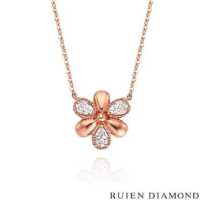 RUIEN DIAMOND 韓國輕珠寶 飾品 配件14K玫瑰金 項鍊 LN179