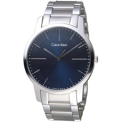 Calvin Klein CK  都會系列簡約時尚腕錶-藍/43mm