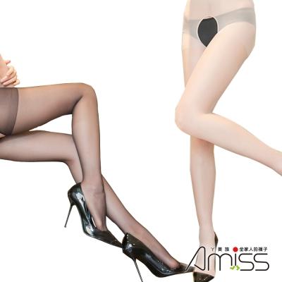 Amiss機能感塑 30D美肌透膚免脫雕空蕾絲邊褲襪5入組(款式任選)
