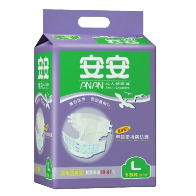 安安 全能加值型L號 成人紙尿褲(13片x6包)