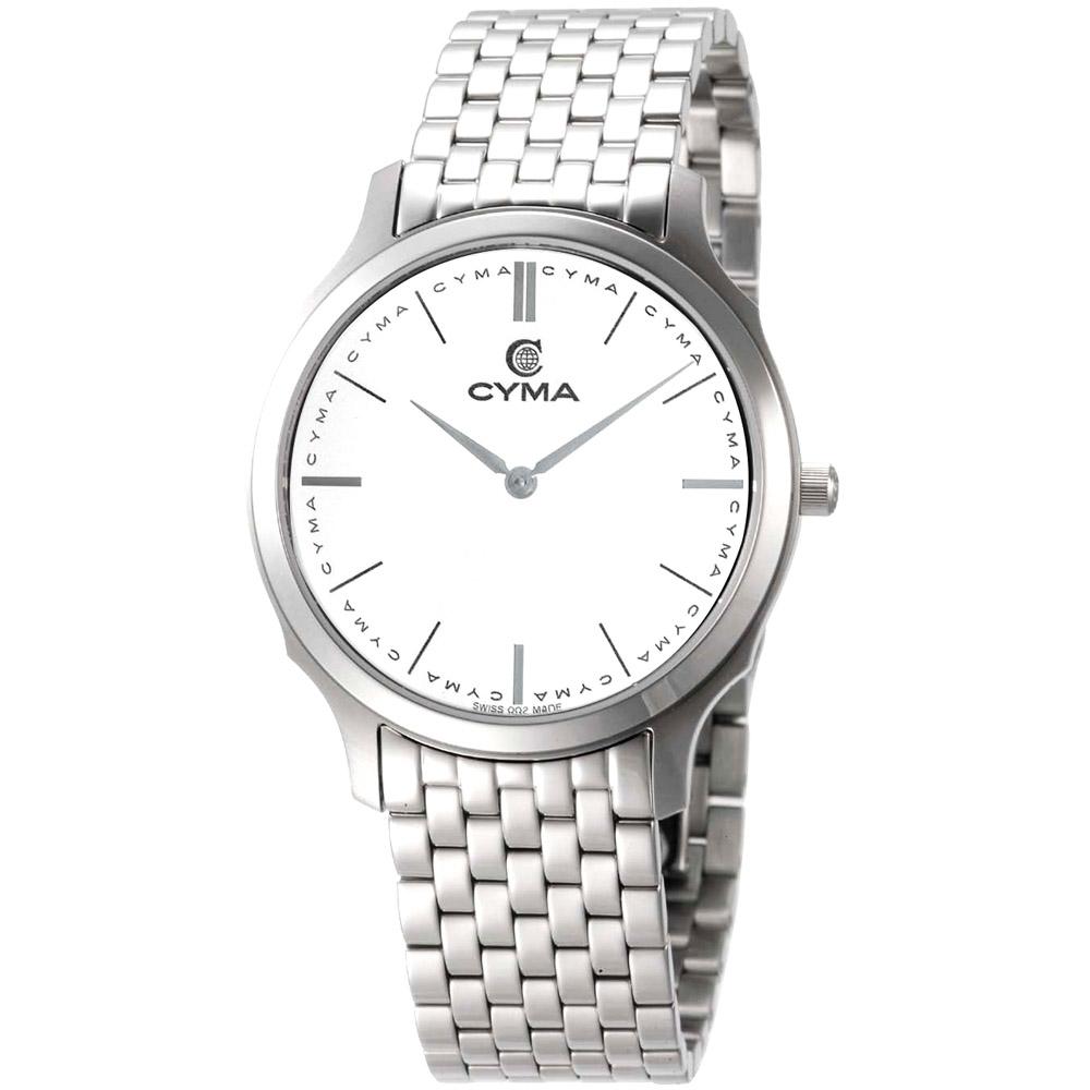 CYMA 經典知性時尚腕錶-白/33mm