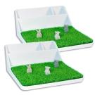 ABEL 青睞 63917 冰川白 桌面整理收納架(二組入)