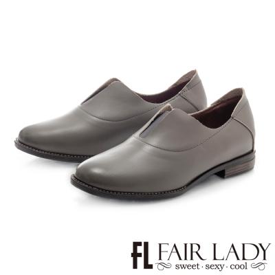 Fair Lady 復古刷色鬆緊帶設計紳士鞋 灰