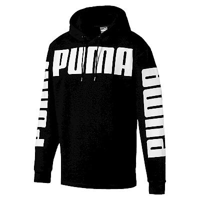 PUMA-男性基本系列Rebel長厚連帽T恤-黑色-亞規