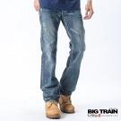 BIG TRAIN-壓線打釘小直筒褲-淺藍