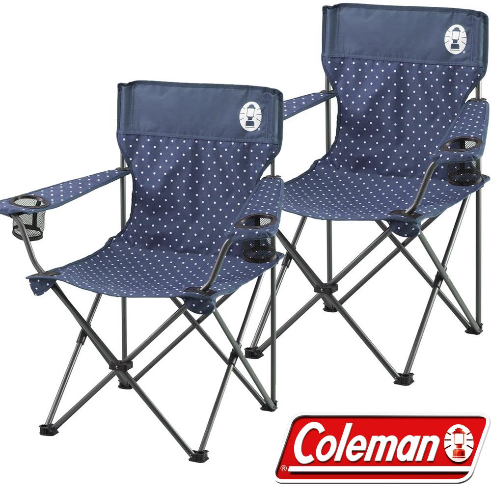 Coleman CM-26736_圓點海軍藍 渡假休閒椅(2入)/野餐桌椅/露營椅 公司貨