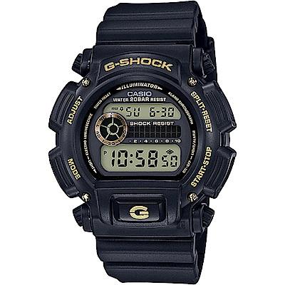 CASIO卡西歐 G-SHOCK 80年代復刻電子錶-黑金