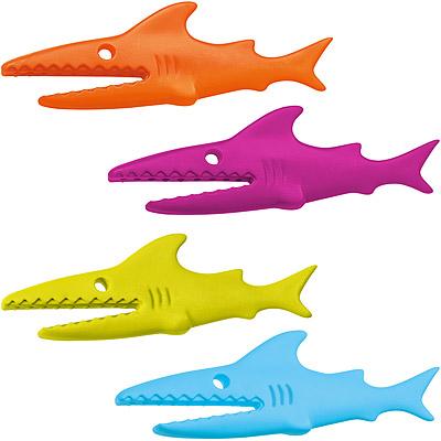 KOZIOL 鯊魚袋口密封夾(彩4入)