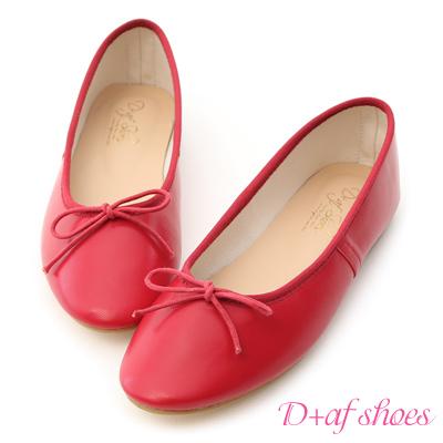 D+AF 芭蕾舞伶.經典平底芭蕾娃娃鞋*紅