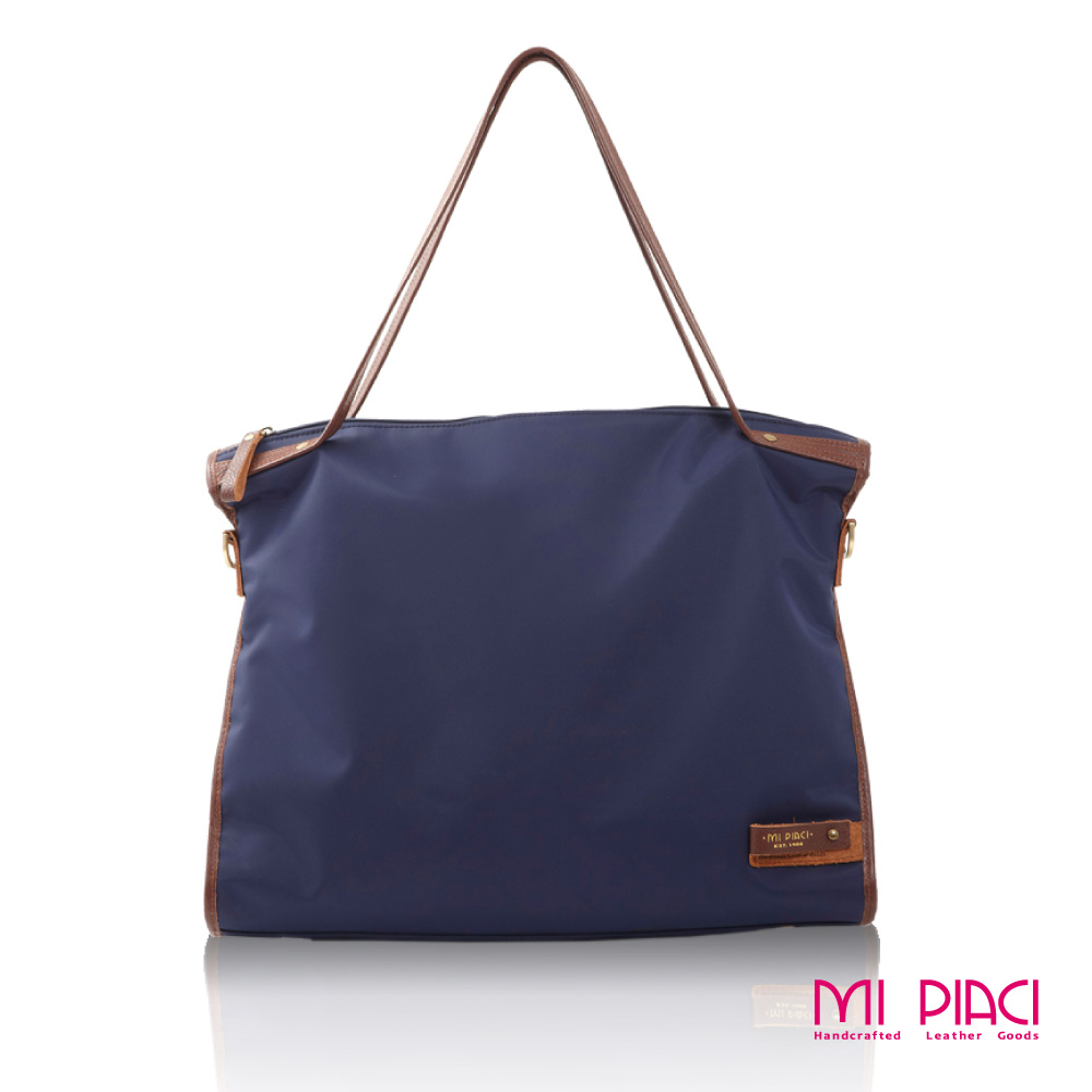 Mi Piaci 革物心語 -都會經典系列 Tofu Bag 時尚豆腐包-藍色