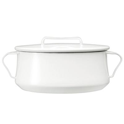 DANSK 琺瑯雙耳燉煮鍋-26cm(白色)