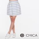 CHICA 條紋蓬蓬裙