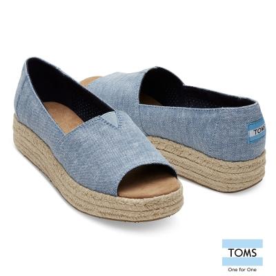 TOMS 魚口草編平底鞋-女款
