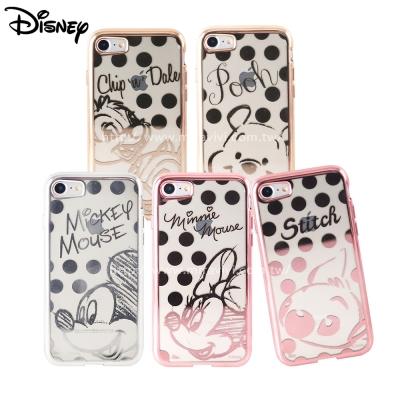 Disney迪士尼iPhone 8/7(4.7吋)時尚質感電鍍保護套-點點系列